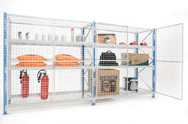 Mesh-caged-shelving