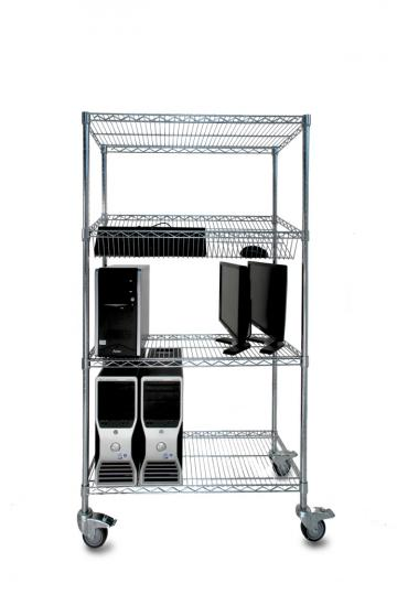 OfficeSTOR ESD chrome wire shelving