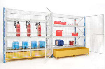 Meshed long-span racking and containment tray
