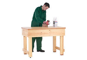 Fabulous Traditional Timber Work Benches Officestor Onthecornerstone Fun Painted Chair Ideas Images Onthecornerstoneorg